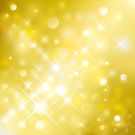 illustration layered of golden glittering background.  Vector