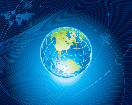 Global communication connection background.