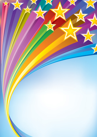 Stripes star flowing Celebratory background. vector layered. Vector