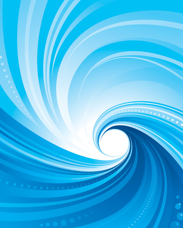 Abstract Blue swirl wave background. vector layered. 矢量图像