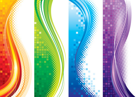 vertical banner: Design set of vertical modern backgrounds,