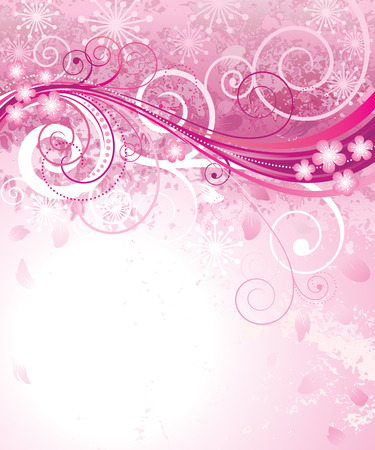 flora: Abstract pink floral background in pink.