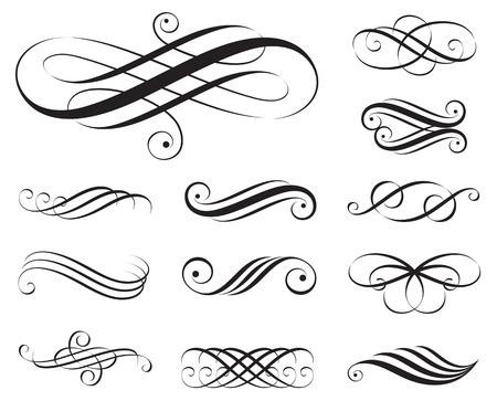 elementi: Insieme di elementi Elegance, illustrazione.
