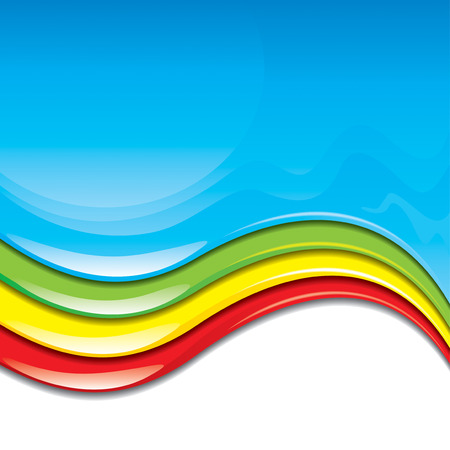 emulsion: Colorful paint flowing background. vector layered.