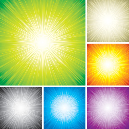 Vector illustration of radial rays abstract background. Vector