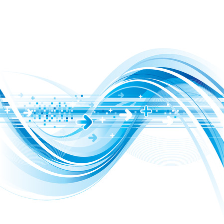 flujo de datos: Fondo de conexi�n de internet de tecnolog�a abstracta  Vectores