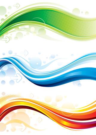 digital wave: Conjunto de fondobanner de web de tecnolog�a
