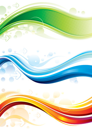 Set of technology web backgroundbanner Vector