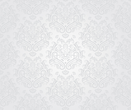seamless damask: Seamless retro wallpaper pattern in light colors.