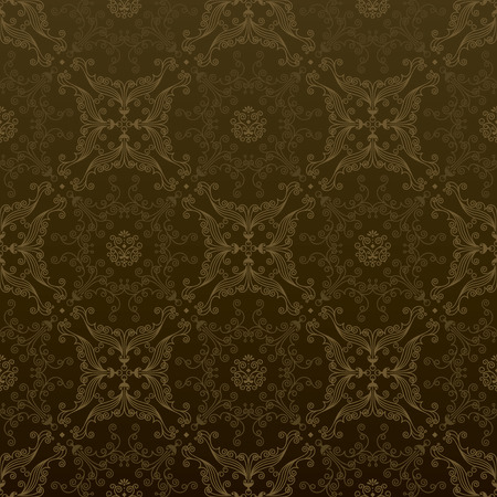 seamless luxury wallpaper pattern in gold. layered. Vector