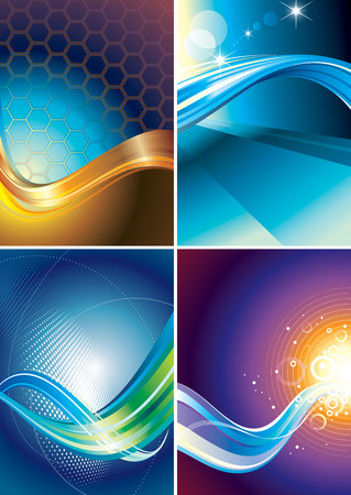Set of abstract technology connection background. Stock Vector - 8116607
