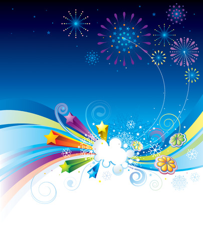 illustration of holiday eve celebration background. Stock Vector - 8189342