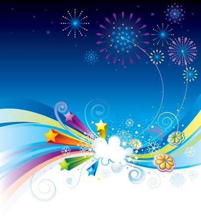 new day:  illustrazione di vacanze vigilia celebrazione dello sfondo. Vettoriali