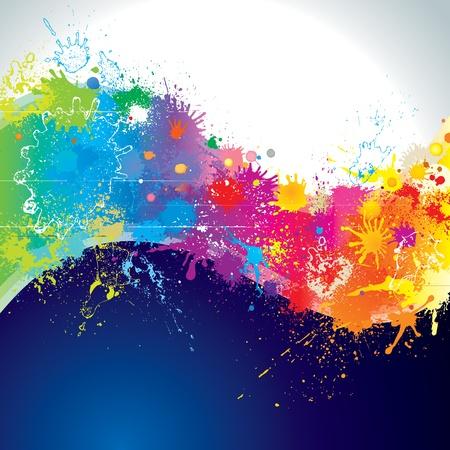 Splatter paints of wave shape. Stock Vector - 9681438