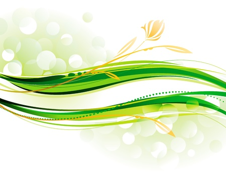 green  wave: Banner of green ecology and defocused background.