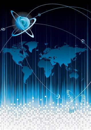 conectividad: Concepto de Internet de conectividad global. Vectores