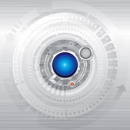technology backgrounds: Abstract technology background in silver.