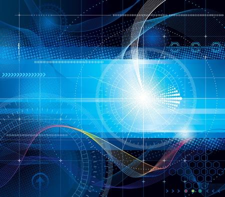 seguridad industrial: fondo abstracto de la composición de la tecnología.