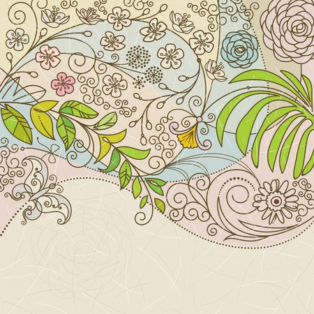 Floral background of spring. Vector