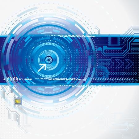 tecnologia: La tecnologia sfondo astratto. Vettoriali