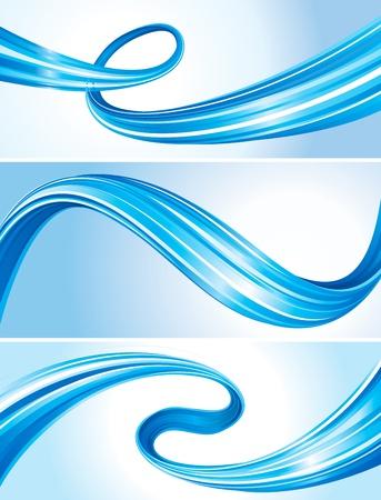 Sada abstraktní plynoucí křivky, tech připojení pozadí