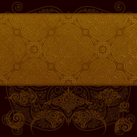 Seamless vintage wallpaper pattern, vector layered.  Vector