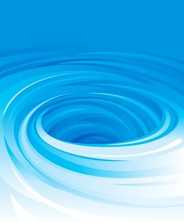 Vektor vířící vody pozadí.