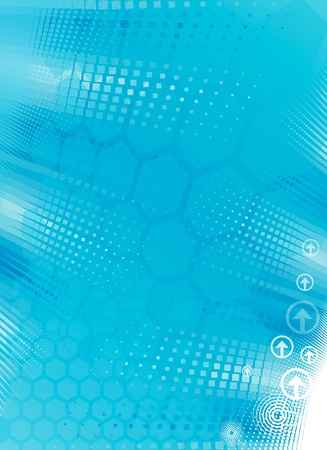 Abstract tech background of Turquoise color. Vector