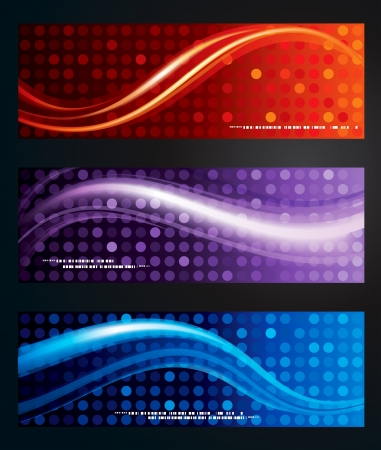 Set of abstract web background banner