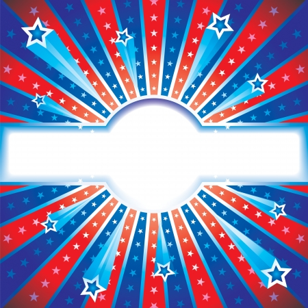 Independence day, patriotic background  Vector