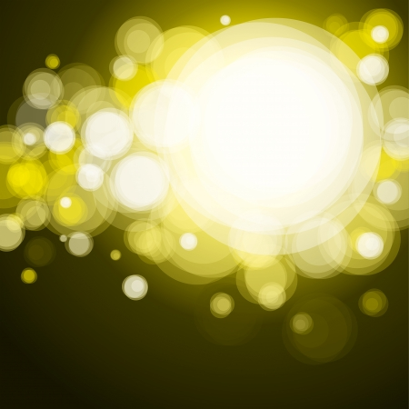 összpontosított: Absztrakt háttér világítás, bokeh sárga Illusztráció