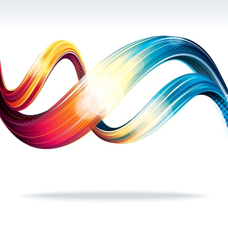 Abstract Wave   Abstract background of technology connection  Vector