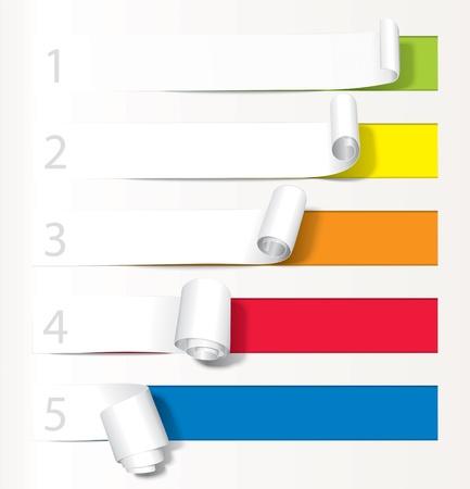 paper curl: Juego de la curvatura del papel de menos a m�s.