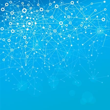 conexiones: Fondo abstracto de las mol�culas azules.