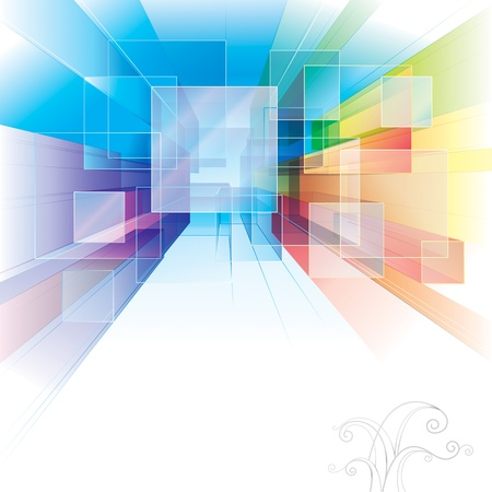 Abstract background for interior or architecture.  Illustration