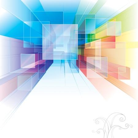 perspektiv: Abstrakt bakgrund för inredning eller arkitektur. Illustration