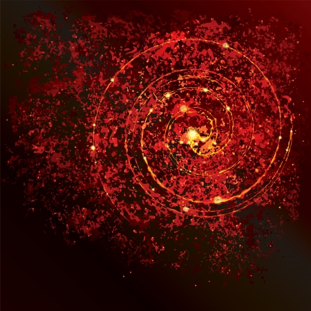 Abstract red textured grunge background. Vector