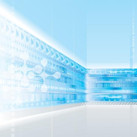 Abstracte achtergrond ontwerp van de technologie. Stock Illustratie