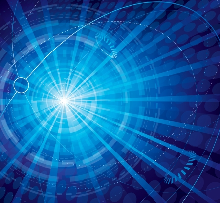 Technology connection abstract blue background. 일러스트