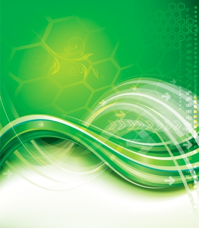 Abstract background of green technology. Stock Vector - 16946877