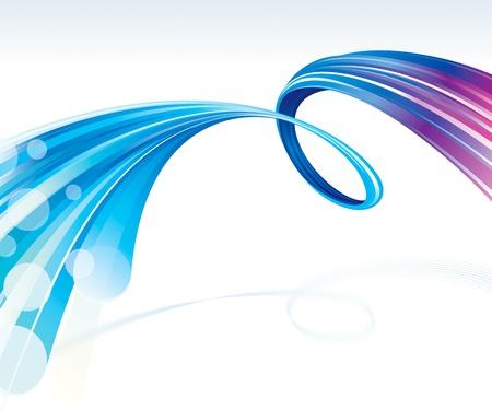 抽象的な波技術接続の背景。