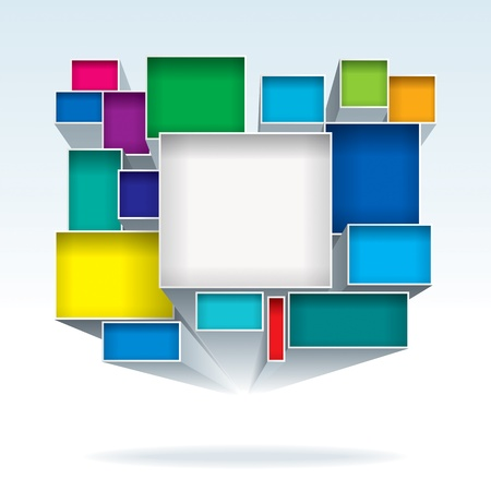 抽象的な 3 D カラー ボックスの背景。