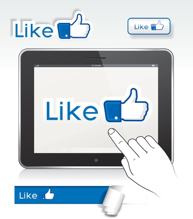 Set of  like  thumb up button design
