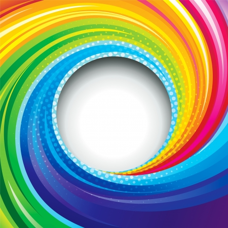 Abstract colorful swirl circle background. Vector