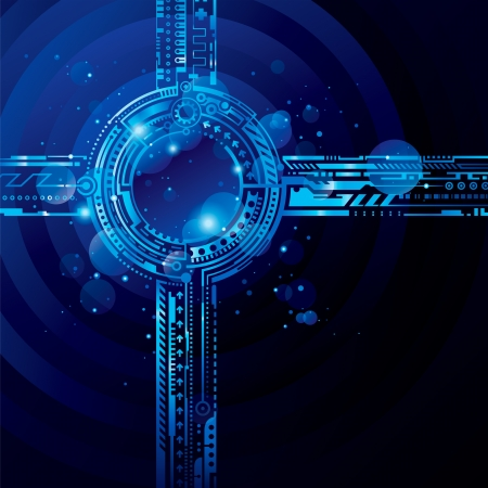 Abstract high tech blue background with light effect.