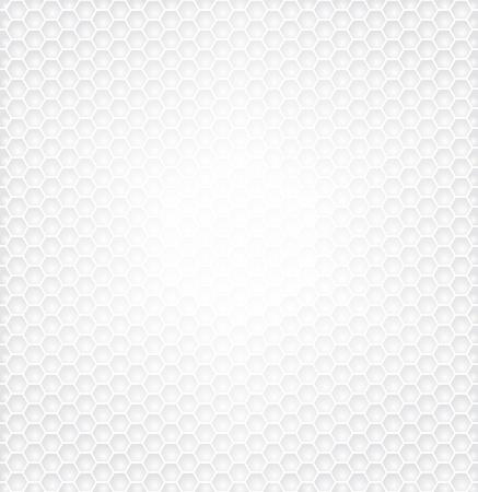 技術の白い背景のテクスチャの六角形パターン。
