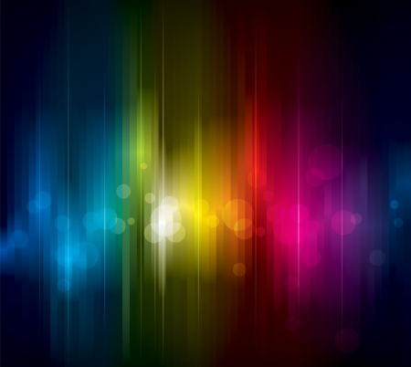 暗い背景上の抽象的なカラフルな光。  イラスト・ベクター素材