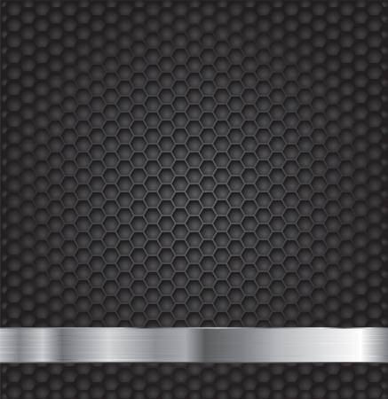 Black hexagon metal grill texture background. Stock Vector - 19112200