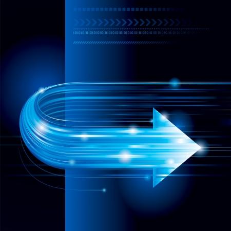 directions: Abstracte technologie achtergrond met pijl vorm.