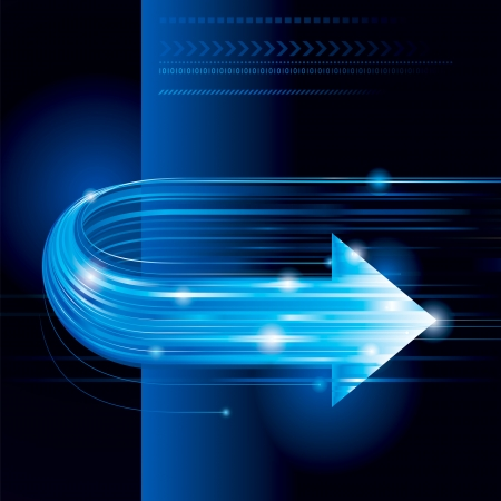 Abstract technology background with arrow shape.